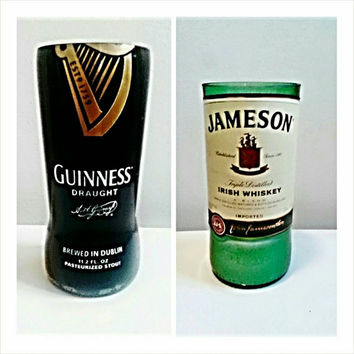 St. Patricks Day Luck of the Irish Candle Bundle- Guiness Beer and Jameson Irish Whiskey