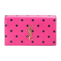 Classic Monogram printed leather clutch