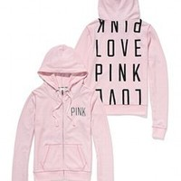 Funnel Neck Perfect Zip Hoodie - Victorias Secret PINK - Victoria's Secret