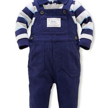 Ralph Lauren Childrenswear Mesh Bodysuit & Coveralls Set