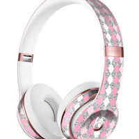 Pink and Silver Diamonds All Over Full-Body Skin Kit for the Beats by Dre Solo 3 Wireless Headphones