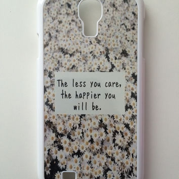 Less You Care, Happier You Will Be Daisies Android Galaxy Case