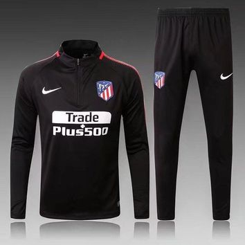 KUYOU Atletico Madrid 2017/18 Black Men Tracksuit Slim Fit