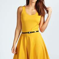 Maya Scoop Neck Skater Dress