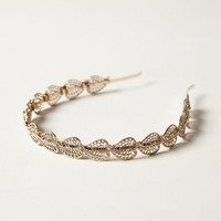 Crystal Laurel Headband by Anthropologie Gold One Size Hair