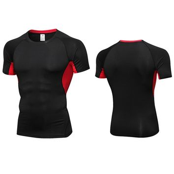 Shirt Homme Running Men Designer Quick Dry T-Shirts Running Slim Fit Tops Tees Sport Men 's Fitness Gym T Shirts Muscle Tee 2018