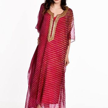 beach caftan dress kaftan boho maxi dress in fuchsia gold beaded caftan dress