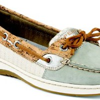 Sperry Top-Sider Angelfish Cork Slip-On Boat Shoe Grey/SilverCork, Size 7.5M  Women's Shoes