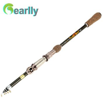 Superhard 1.8m 2.1M 2.4M 2.7M Carbon Fishing Rod Travel Telescopic Fishing Pole Spinning Casting Saltwater Fishing Tackle Rods
