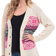Pattern In Pink Marled Oversized Cardigan