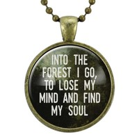 Into The Forest I Go Necklace
