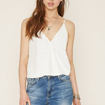 Tonal-Patterned Surplice Cami
