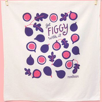 Get Figgy With It Dish Towel