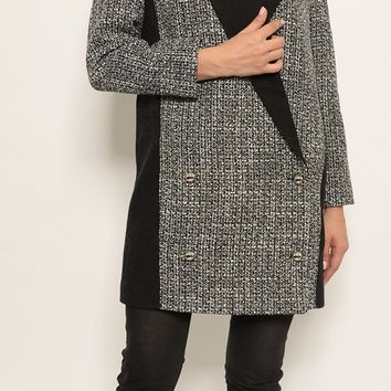 St. Sereno Women's Jacket Gray with Black Contrast