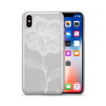Flower Lace Henna - Clear TPU Case Cover Phone Case