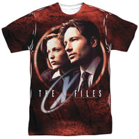 X FILES/TRUTH SEEKERS-S/S ADULT POLY CREW-WHITE-MD
