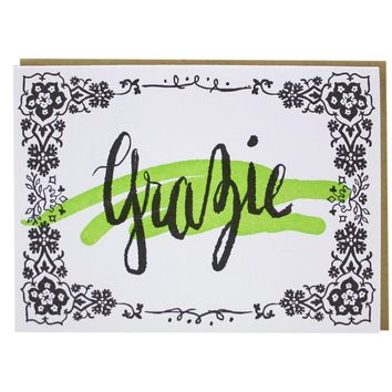 Smudge Ink - Multilingual Thank You Card - Assorted Set