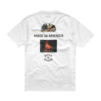 MADE IN AMERICA T-SHIRT: WHITE