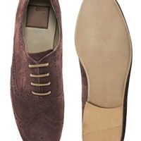 ASOS Brogue Shoes in Suede at asos.com