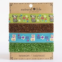 Hair  Accessories:  Dazzle  Bracelet/Hairbands  |  Natural  Life