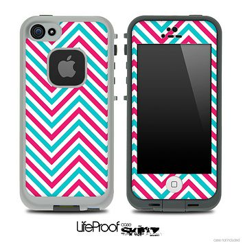 V3 Chevron Pattern Red and Blue Skin for the iPhone 5 or 4/4s LifeProof Case