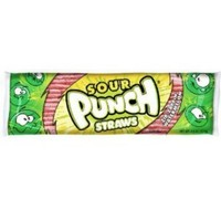 Sour Punch Straws Watermelon 4.5 Ounce Theater Size Pack 1 Tray