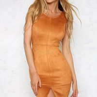Figure of Speech Midi Dress Caramel