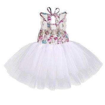 Newest Sequins Newborn Baby Kids Girls Tulle Tutu Lace Floral Dress Backless Party Sleeveless Dresses