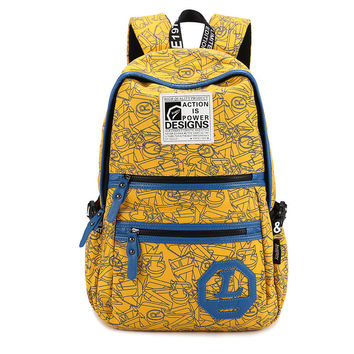 Casual Back To School Comfort Stylish College On Sale Hot Deal Zippers Cool Canvas Alphabet Backpack [6304976836]
