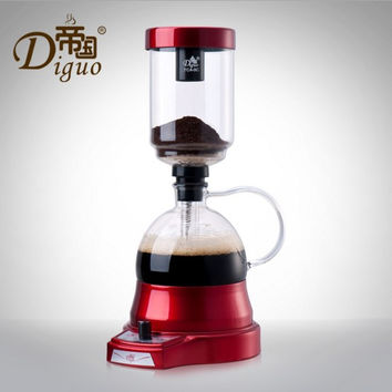 Diguo high quality electric coffee pot electric siphon pot home coffee maker coffee filter pot coffee pot set
