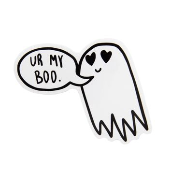 """Ur My Boo"" Valentine's Day Ghost Vinyl Sticker."