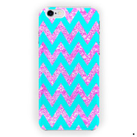 Chevron Anchor Sparkly Design Custom For iPhone 6 / 6 Plus Case