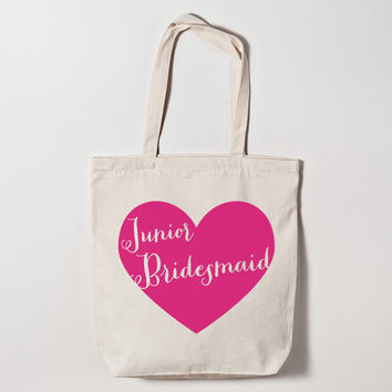 Junior Bridesmaid Heart Tote Bag