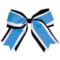 Jumbo 3 Color Cheerleading Hair Bows by Chasse Cheer