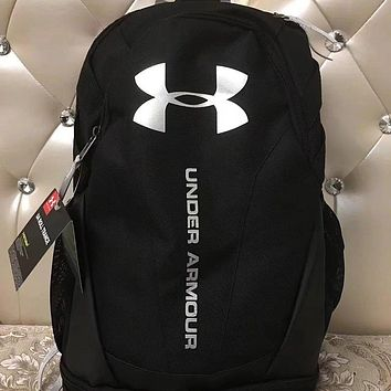 Under Armour New College Wind Couples Tide Brand Wild Large Capacity Backpack F0676-1 Black