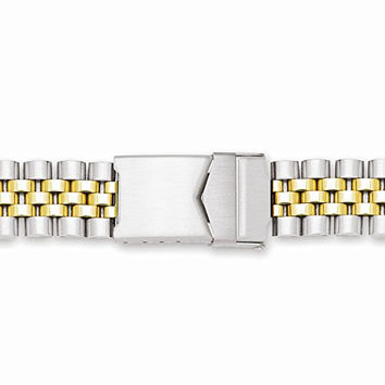 18-22mm Two-tone Jubilee-style W/deploy Solid Watch Band, Best Quality Free Gift Box Satisfaction Guaranteed