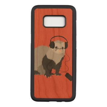 Funny Music Lover Ferret Carved Samsung Galaxy S8 Case