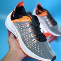 DCCK N422 Nike Zoom EXP-X14 CR7 Flyknit Breathable Casual Running Shoes Black Orange