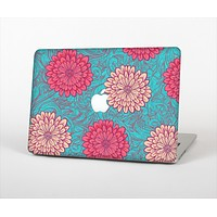 The Pink & Blue Floral Illustration Skin Set for the Apple MacBook Pro 13""