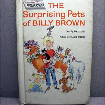 1962 The Surprising Pets of Billy Brown Vintage Childrens Book
