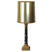 Tall Stiffel Neoclassical Brass Lamp