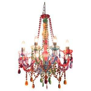 Circus Multi Coloured 8 Arm Chandelier