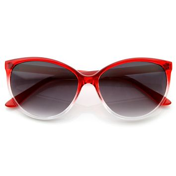 Cute Retro Summer Cat Eye Color Fade Sunglasses 8540
