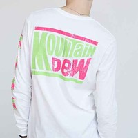 Mountain Dew Long-Sleeve Tee- White