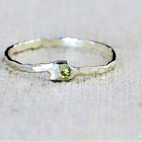 Freeform Peridot Ring