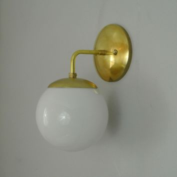 Mid Century Orb Wall Sconce