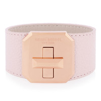 Whitney Turnlock Leather Cuff Bracelet