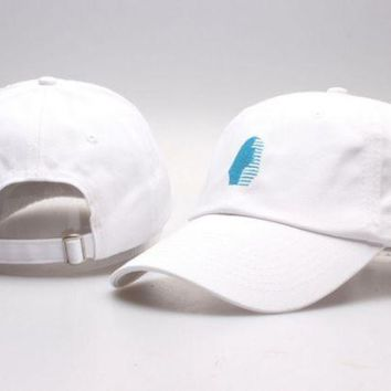DCCKUNT The New Last Kings Visor Unisex Outdoor Couple's Cotton Baseball Cap - White