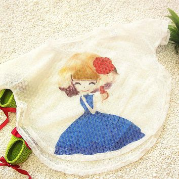 New Girls Baby Cartoon Bikini Cover-Ups Character Child Kids Swimwear Beachwear Print Pattern UV Protection Smock Bathing Suit