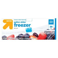 Slider Gallon Freezer Bags 30ct - Up&Up™ (Compare to Ziploc® Slider Bags)